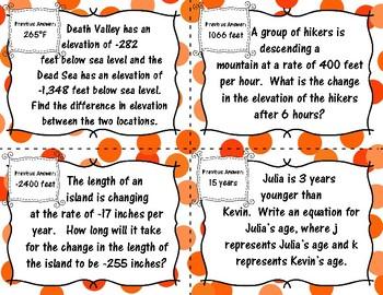 6th Grade Math Mixed Review Scavenger Hunt