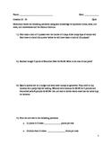 6th Grade Math Module 1 Lessons 16 - 23 QUIZ