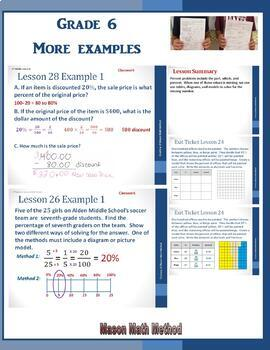 6th Grade Math Module 1 Lessons 24-28 Powerpoint