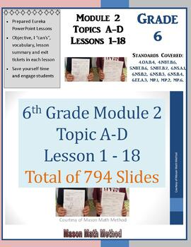 6th Grade Math Module 2 Lessons 1-18 Powerpoints