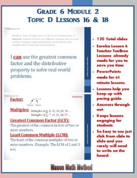6th Grade Math Module 2 Lessons 16-18 Powerpoints
