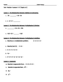 6th Grade Math Module 4 Practice Test Lessons 1-17