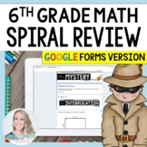 6th Grade Math Mystery Review Digital Version - Distance Learning