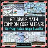 6th Grade Math No Prep Note Bundle