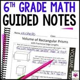 6th Grade Math Guided Notes | 6th Grade Math Notes