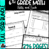 6th Grade Math Notes and Such Full Year Bundle