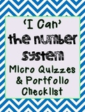 6th Grade Math Number System Micro Quizzes (Common Core)