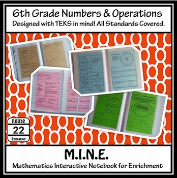 6th Grade Math TEKS Numbers and Operations INB