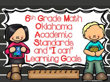 "6th Grade Math Oklahoma Academic Standards and ""I Can"" Lea"
