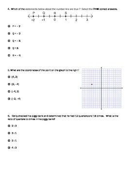 6th Grade Math PARCC Practice test for PBA/MYA by Brent ...
