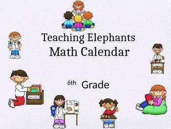 6th Grade Math Pacing Guide Calendar