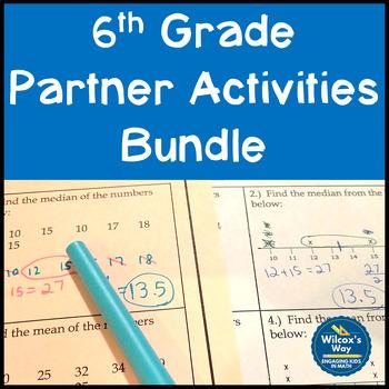 6th Grade Math Partner Activities Bundle