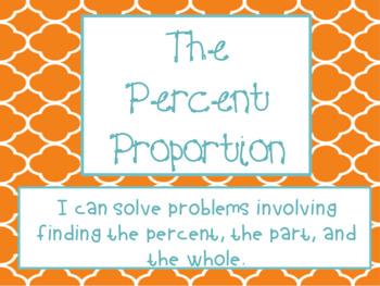 6th Grade Math - Percent Proportion