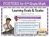 6th Grade Math Posters (6.RP.1-3) with Marzano Scales - FREE!
