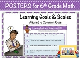 6th Grade Math Posters with Learning Goals and Scales - Al