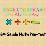 6th Grade Math Pretest