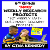 6th Grade Math Projects, Math Enrichment for the Entire Year! Distance Learning!