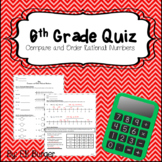 6th Grade Math Quiz - Compare and Order Rational Numbers