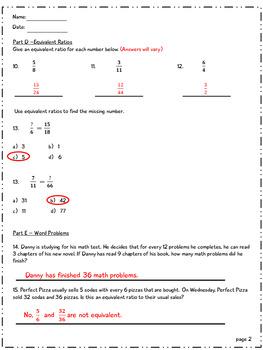 6th Grade Math Quiz - Ratios and Rates