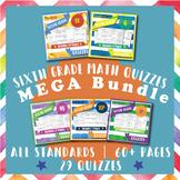 6th Grade Math Quizzes MEGA Bundle {Common-Core Assessments}