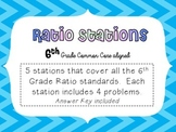 6th Grade Math Ratio Stations (Common Core)