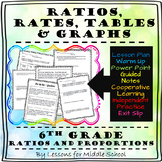 6th Grade Math- Ratios, Rates, Tables, and Graphs - Lesson and Activities