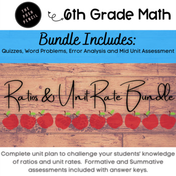 6th Grade Math Ratios and Unit Rate Bundle