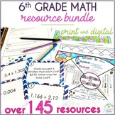 6th Grade Math: Warm-Ups, Task Cards, Problem Solving, Col
