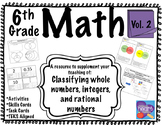 6th Grade Math Resource Vol 2: Classifying integers, whole