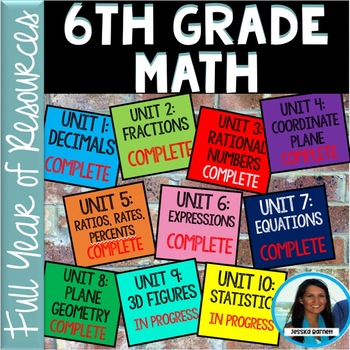 6th Grade Math FULL YEAR Resources Bundle (GROWING)