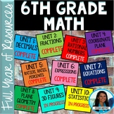 6th Grade Math FULL YEAR Resources Bundle