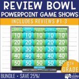6th Grade Math Review #1-3 Game Shows End of Year BUNDLE