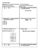 6th Grade Math Review 1 -- 6.RP.1, 6.NS.4, 6.NS.6a, 6.EE.2a, 6.EE.3, 6.RP.2
