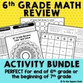 6th Grade Math Review Activities
