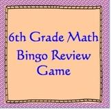 6th Grade Math Review Bingo Game, TCAP Review