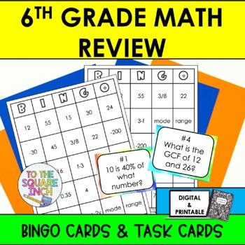 6th Grade Math Review Bingo