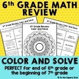 6th Grade Math Review Color and Solve