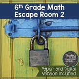 6th Grade Math Review Escape Room--Digital and Paper Versions #2