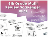6th Grade Math Review Scavenger Hunt