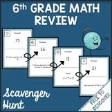 6th Grade Math Review Scavenger Hunt Activity