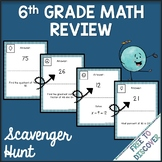 6th Grade Math Review Activity - Scavenger Hunt
