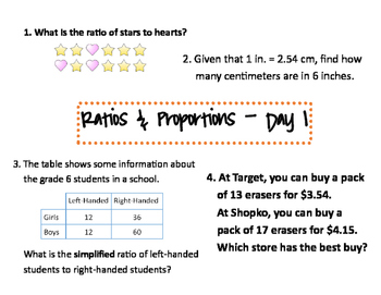 6th Grade Math Review Stations with Answer Sheet