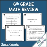 6th Grade Math Review Task Cards
