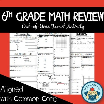 6th Grade Math CCSS Cumulative Review Activity - Entire Ye