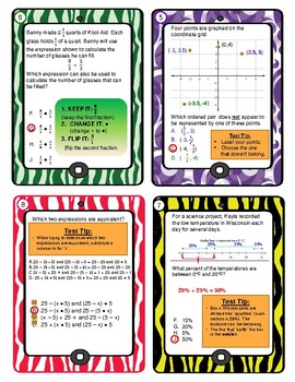 6th Grade Math Review with Answers