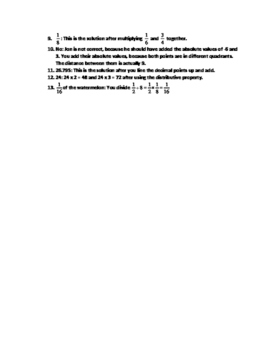 SBAC: 6th Grade Math Benchmark Test-Number Systems Domain #1