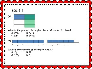 6th Grade Math SOL Review