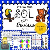 6th Grade Math SOL (2016 standards) Review Game- Part 2