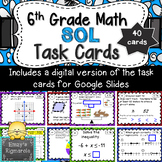 6th Grade Math SOL (2016 standards) Review Task Cards