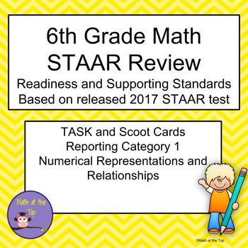 6th Grade Math STAAR Reporting Category 1 Task/Scoot Cards - 2017 STAAR